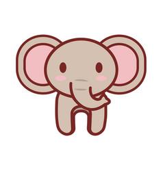 cartoon elephant animal image vector image vector image