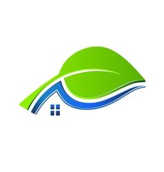 Ecology house logo vector image vector image