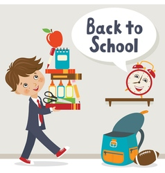 It is time to go to school vector image