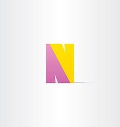 letter n logotype design vector image vector image