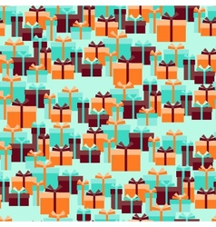 Seamless pattern with gift boxes in retro style vector image vector image