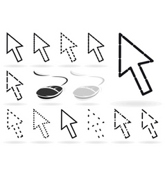 set of arrows and mice for the computer a vector i vector image vector image