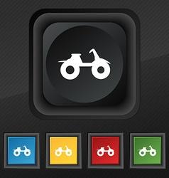 Atv icon symbol set of five colorful stylish vector