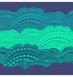 Pattern Sea Waves vector image vector image