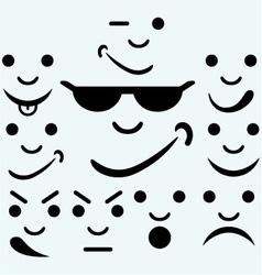 Set of smileys vector image