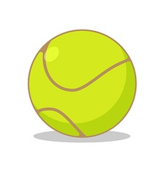 Tennis ball isolated Sports accessories for tennis vector image