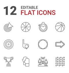 12 competition icons vector