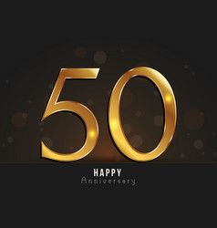 50 years happy anniversary card vector image
