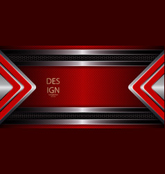 Abstract red embossed background with two shiny vector