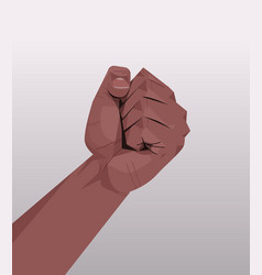 African american human hand showing clenched fist vector