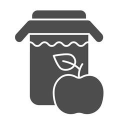 apple juice solid icon jar of apple juice vector image