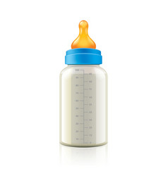 baby bottle isolated vector image