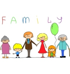 Big family child picture vector