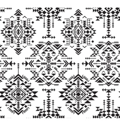 Black and white ethnic seamless pattern with vector