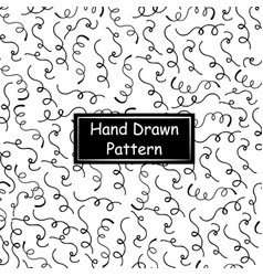 black and white hand drawn pattern vector image