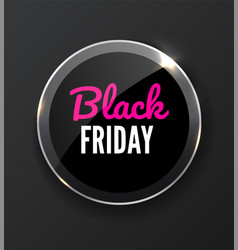 black friday sale banner realistic vector image