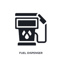 Black fuel dispenser isolated icon simple element vector