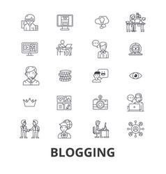 blogging blogger social media news website vector image