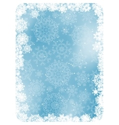 Blue christmas background with snowflakes EPS 8 vector image