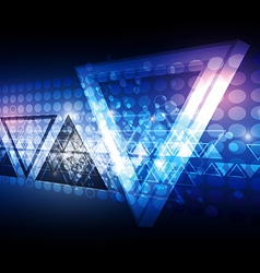Blue triangle abstract background vector