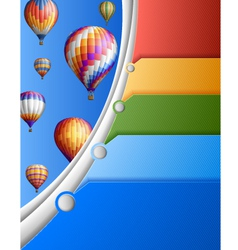 Business Template with Balloons vector image
