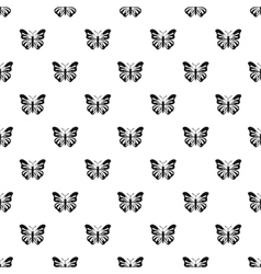 Butterfly with striped ornament on wings pattern vector