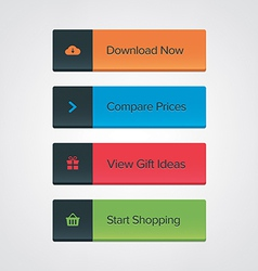 Call-To-Action button set vector
