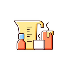 Candle making rgb color icon vector
