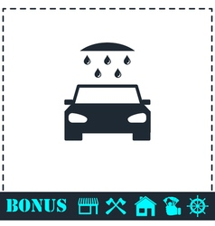 Car wash icon flat vector