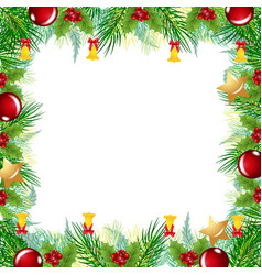 christmas border greetings card image vector image