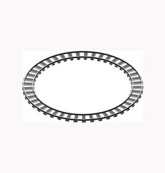 circle shaped railway railway going forward 3d vector image