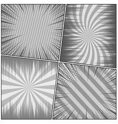 comic book page monochrome backgrounds set vector image