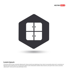 cupboard icon hexa white background icon template vector image