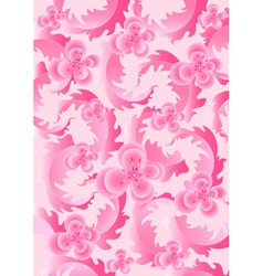 Delicate pink flowers on light pink background vector