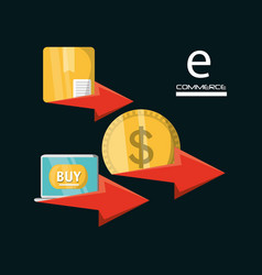 ecommerce online discount to business strategy vector image