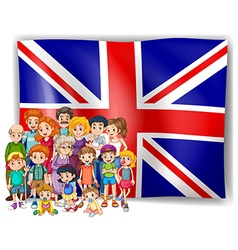 England flag and their people vector