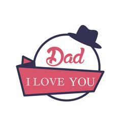 father day badge sticker logo icon design vector image