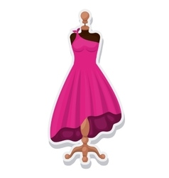 female mannequin isolated icon vector image