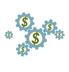 financial system conceptual logo unique symbol vector image