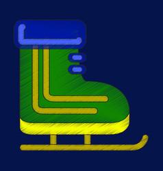 Flat shading style icon skates vector