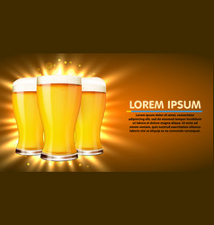 glass beer isolated on white background vector image