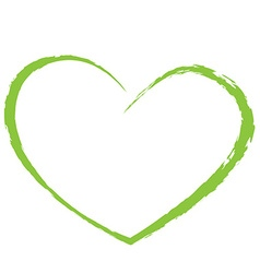 green heart drawing love valentine vector image