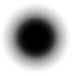 halftone element circular halftone pattern specks vector image