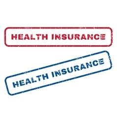 Health Insurance Rubber Stamps vector
