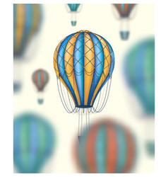 hot air balloons travel around world vector image