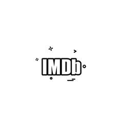 imdb icon design vector image