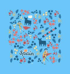 Inspired spanish corrida vector