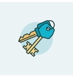 Keys flat icon vector