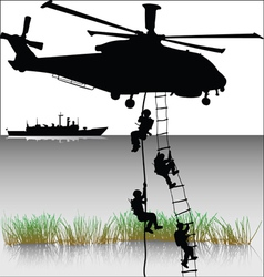 Landing helicopters vector