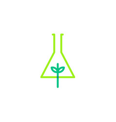 Leaf lab nature logo icon line outline monoline vector